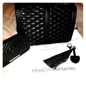 Rebecca Minkoff Jumbo Bag, Wallet & Keychain